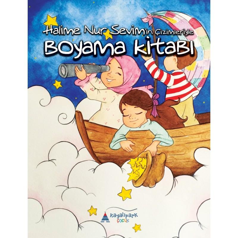 Boyama Kitabı Halime Nur Sevimin çizimleriyle Kayalıpark Yayınları