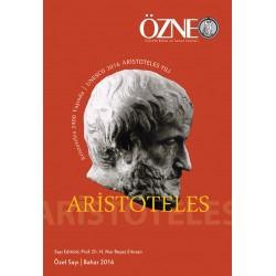 Özne Felsefe Bilim ve Sanat Yazıları  | Özel Sayı | Aristoteles